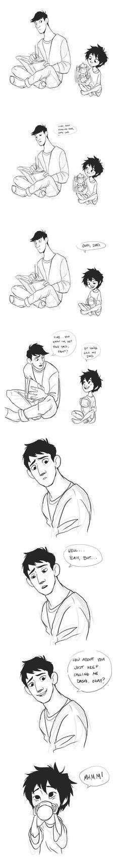 Lil Hiro and Tadashi :')