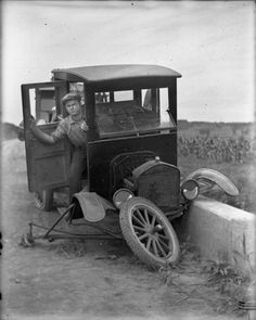 Damaged Ford Automobile | Photograph | Wisconsin Historical Society