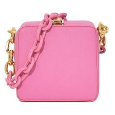 Cube Chain Bag in Pink - Top Handle Bags - Bags 3bfbc7f85643e