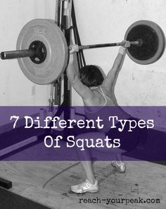 Types Of #Squats - 7 variations. #FitFluential