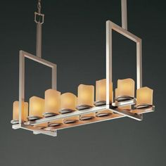 CandleAria Dakota Fourteen-Light Tall Bridge Chandelier  Bellacor