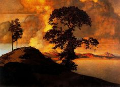 "Maxfield Parrish. ""Atlas Landscape,"" 1907"