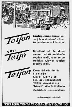 IJL - Vanhat mainokset 1940 - 1950 Old Advertisements, Advertising, Old Commercials, Old Tools, Old Ads, Old Pictures, Ancient History, Finland, Retro Vintage