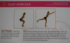 Brazilian butt lift moves Squat Arabesque
