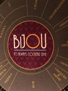 Menu Design for #BIJOU #Cocktails #Interior #Graphic #Menu #Design #Hospitality #Bars #Consulting #WorkFlow #FlowsProjects #Ficton From Interior Concept To Opening Night