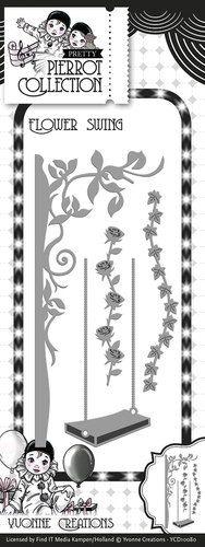 Die - Yvonne Creations - Pretty Pierrot - Flower Swing