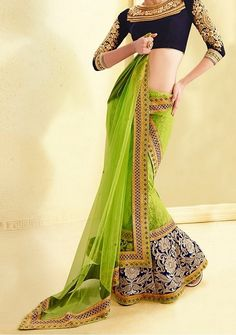 Sabysachi-inspired lehenga saree blouse design   #LehengaSaree #BloueDesigns #Lehenga