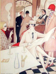 Cafe, Gerda Wegener.