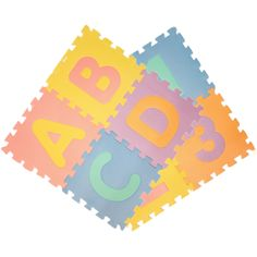 This interlocking Interactive alphabet and number puzzle mat tiles for children and kids play areas is made from high density, high quality foam, giving the tiles a soft feel. They are colorful and fun.