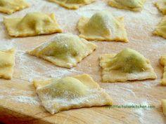 Fresh homemade ravioli with ricotta and spinach