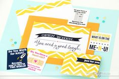"""Open When"" Letters Kit- this is so awesome!!"
