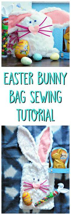 Easter Bunny Bag Sewing Tutorial Kids Easter Basket #easterbasket #bunnybasket #sewingtutorial #eastersewingtutorial #bunnysewingtutorial #rabbitbasket #kidsrabbitbasket