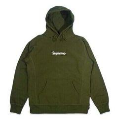 supreme hoodie olive green