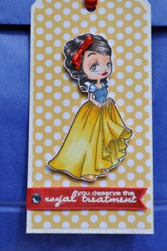 Snow White Tag by Judy Bagwell using Royal (Clear Stamp)