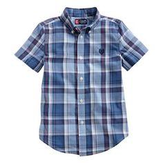 Chaps Madras Plaid Button-Down Shirt - Boys 4-7