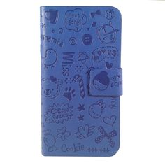Cute Cartoon flip cover telefoonhoesje Samsung Galaxy S3 - PhoneGeek.nl