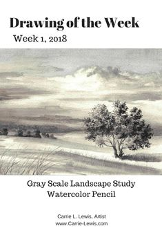 The first of a series of Drawings of the Week for 2018. Watercolor pencil on paper. See how to create your own gray scale studies.