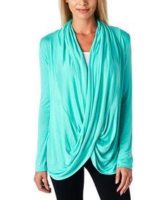 Love this mint lightweight crisscross drape top by popana on zulily