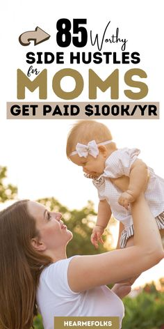 Make Money and Work from Home! Does working from literally anywhere appeal to you moms? Do you want more out of life… and know you can get it with the right skill set? This list has the best side hustles for every single mom. Whether you need a second job or an additional source of income, we have found an extra moneymaker that fits your skills, schedule, and needs! #workfromhome #stayathomejobs #onlinejobs #careeradvice #jobs #sidejobsfromhome #extracash #stayathomejobsextramoney