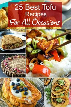 You'll never wonder how to prepare tofu again. The best 25 vegan tofu recipes out there for breakfast, lunch, dinner, & more are all right here with this tofu recipe collection. #veganrecipes #tofurecipes #tofu #tofucollection #vegan #breakfast #lunch #maindish #appetizers #vegancheese  via @VeganFreezer