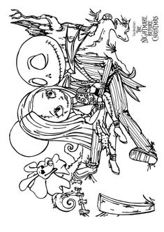 nightmare before christmas adult coloring pages - 1000 images about coloring on pinterest coloring pages