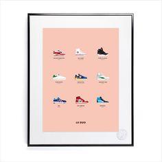 Affiche Le Duo Sneakers 40 x 50 - Image Republic