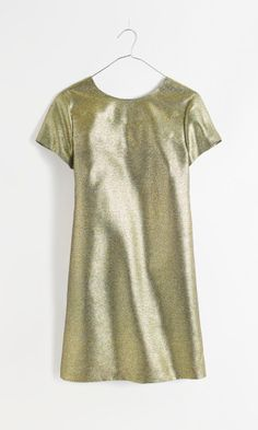 Madewell shimmer T-shirt dress.