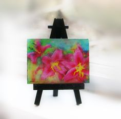 A personal favorite from my Etsy shop https://www.etsy.com/listing/269554092/summer-rain-lilies-miniature-flower-art