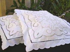 cutwork pillows