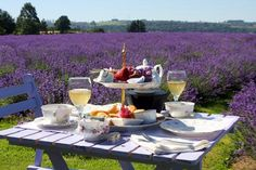 How about a French picnic among the lavender fields with Provence wine and fruit, of course! Sur Chile, French Picnic, Lavender Fields, Lavender Tea, French Lavender, Romantic Places, Romantic Moments, Provence France, South Of France
