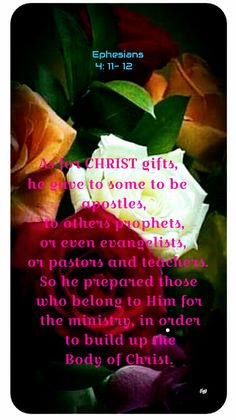 Ephesians 4, Soul Food, Ministry, Christ, Gifts, Pastor, Presents, Favors, Gift