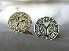 OwenAndFred.com: NYC Subway Tokens Cufflinks, $64.00