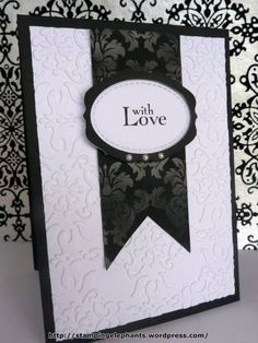 wedding card, can use two hearts in place of medallion