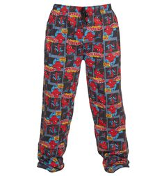 Unisex All Over Print Marvel Spiderman Comic Strip Print Lounge Pants