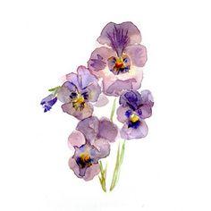 violet tattoo watercolor - Поиск в Google