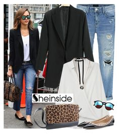 Jessica Alba street style - SHEINSIDE by fashionqueengirl on Polyvore featuring polyvore fashion style Lanvin Wildfox clothing