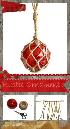 Homemade Net Glass Float Ornaments. Featured on CC: http://www.completely-coastal.com/2015/11/net-glass-float-ornaments-homemade-diy-and-where-to-buy.html