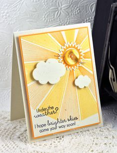 Brighter Skies Card by Dawn McVey for Papertrey Ink (July 2012)