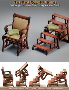 Library Chair Ladder Plans Small Porch Chairs 136 Best Images Carpentry Woodworking The In 1 12th Scale By Ferd Sobol Editions Never Fails