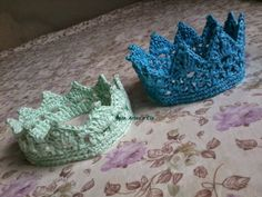 Néia, artes e cia: Receita de coroa em crochê - Crochê Newborn