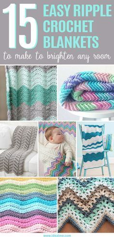 17 Easy Ripple Crochet Blankets to Make to Brighten Any Room We've searched the web to easy ripple crochet blanket designs. These distinctive patterns make a thoughtful gift and beautiful addition to any home. Crochet Afghans, Crochet Ripple Blanket, Afghan Crochet Patterns, Crochet Stitches, Crochet Blankets, Ripple Afghan, Chevron Blanket, Double Crochet Baby Blanket, Chevron Baby Blankets
