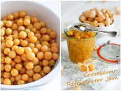 Gooseberry Refrigerator Jam (sugar-free): dried apricots to add a ...