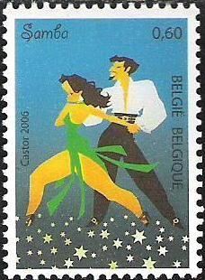 belgian stamps Dance.Samba