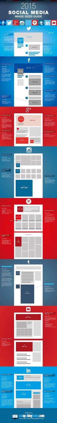 Infográfico mostra tamanhos ideais para imagem em cada rede social