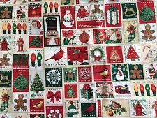 Christmas Stamps Fabric 2014 Tim Coffey For Creative Products