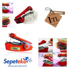 Haftanın Fırsatı! Mini Dikiş Makinesi - 1TL. Kullanımı Kolay Mini Dikiş Makinesi ile Her Yerde Dikiş Yapabileceksiniz. Ürünü İncele >> http://www.sepeteko.com/mini-dikis-makinesi