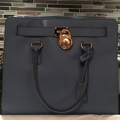 LAST DAY  Kors Hamilton Cornflower 2015 Color, EXCELLENT condition, 100% AUTHENTIC...can fit a notebook , tall with tons of room.. NO TRADES..No Dustbag Michael Kors Bags