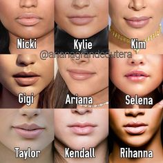 Image result for gigi kylie ariana lips taylor