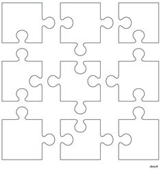 """Search result for images for """"puzzle pieces to print"""" Puzzle Crafts, Puzzle Art, Diy And Crafts, Crafts For Kids, Paper Crafts, Puzzle Piece Template, Art Classroom, Puzzle Pieces, Teaching Art"""