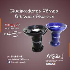 Queimador Fêmea BRmade Phunnel De R$ 57,00 / Por R$ 45,00 até 10x de R$ 5,27 ou R$ 42,75 via depósito  Compre Online: http://www.lojadoarguile.com.br/queimador-femea-brmade-phunnel